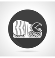 Black round icon for nigiri sushi vector image vector image