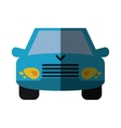 blue car vehicle transport front view shadow vector image