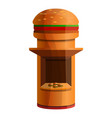 burger kiosk icon cartoon style vector image