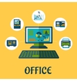 Business and office concept design vector image vector image