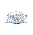 business people teamworkflat line design style vector image