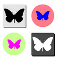 butterfly flat icon vector image