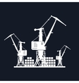 Cargo Cranes Isolated on Black vector image vector image