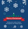 christmas card with fir-tree vector image