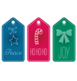 Christmas icon and text tags vector image vector image