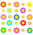 colorful flower on transparent background vector image vector image