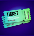 colorful vip entry pass ticket stub design vector image vector image
