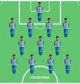 Computer game Honduras Football club player vector image vector image