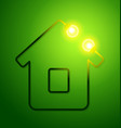 concept eco friendly house vector image vector image