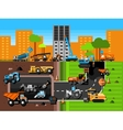 Construction Machines Composition vector image
