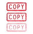copy stamp red rectangular impress vector image