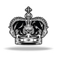 crown black and white king queen 16 vector image vector image