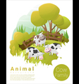 Cute animal family background with Cows 2 vector image vector image