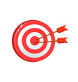 dartboard with stripes and arrows game competition vector image vector image