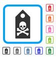 death mark framed icon vector image vector image