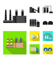 design of production and structure logo vector image