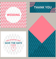 design template of wedding invitation with vector image vector image