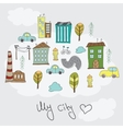 doodle colorful houses vector image