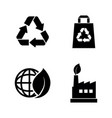 ecological simple related icons vector image vector image