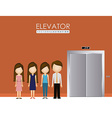elevator up down desing over vector image