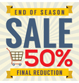 End of Season Sale Vintage vector image vector image