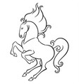 energetic horse reared vector image vector image