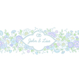 floral wedding horizontal vector image vector image