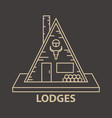 glamping lodges accommodation vector image
