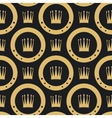 Golden crown seamless pattern vector image