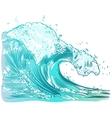 handdrawn handpicked waves vector image