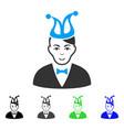 happiness joker icon vector image