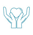 happy friendship day celebration hands with heart vector image