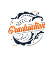 happy graduation vector image vector image