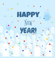 happy new year lettering text winter background vector image