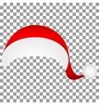Hat of Santa Claus vector image vector image