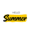 hello summer letter logo template summer vector image