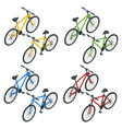 isometric new bicycle isolated on a white vector image vector image