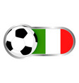 italy soccer icon vector image vector image