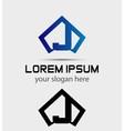 Letter J logo icon design template vector image vector image