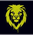 lion head graffiti art vector image vector image