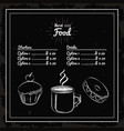 menu deserts and coffee vector image
