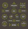 organic linear emblem label badge set vector image vector image