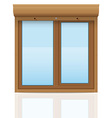 plastic window with rolling shutters 08 vector image vector image