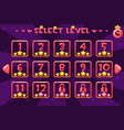 princess girlis style level select screen game ui vector image vector image