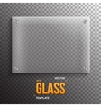 Realistic Glass Plate Template Icon EPS10 vector image vector image