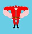 santa pig strong cool serious christmas vector image vector image