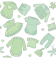 Seamless pattern baby clothes vector image vector image