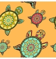 Seamless tortoise pattern in oriental style vector image
