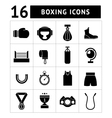 Set icons of boxing vector image