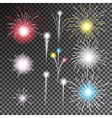 set isolated fireworks vector image
